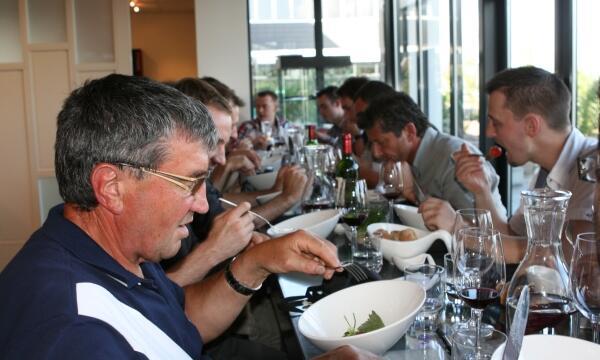 Visite chefs alsaciens et fournisseurs Pomona Strasbourg