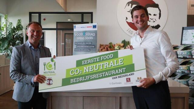 Rob & Bob first in the Netherlands with its food CO2-neutral company restaurant