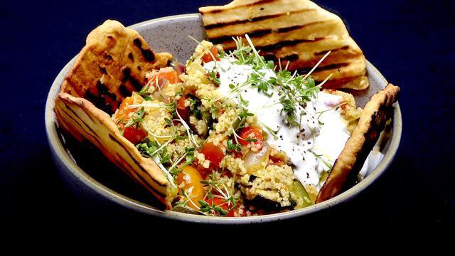 Curry ratatouille en couscous (kom)