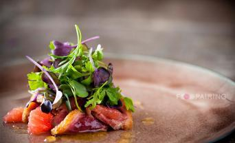 Grapefruit Duck Yuzu Honey Salad