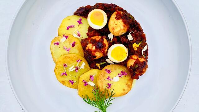Gebraden kwarteleitjes in Kerala-stijl