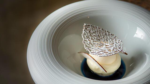 Sneeuwbal, lychee, kokosnoot en blauwe thee, Shiso Purple