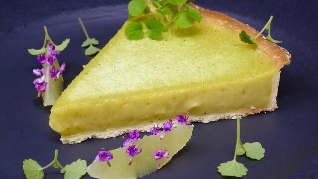 Lemon bergamot tart