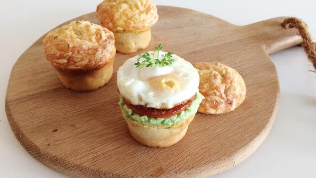 Breakfast Muffins with Garden Cress