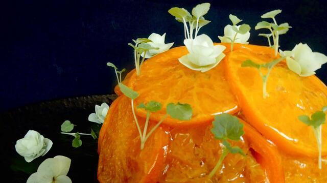 Gestoomde clementinepudding