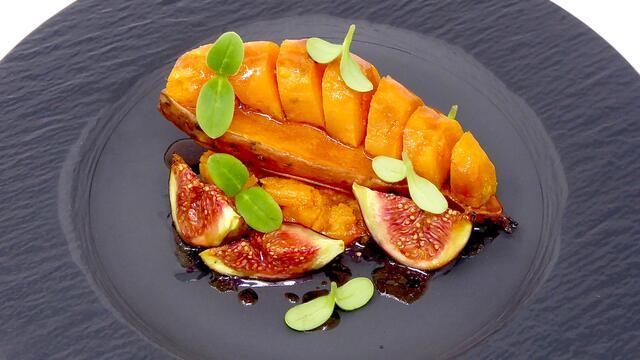 Patate douce et figues rôtis