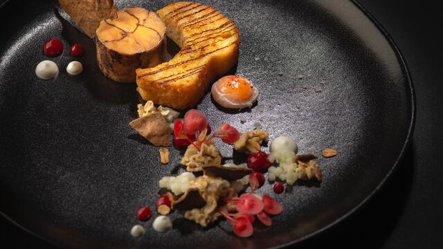 Petit déjeuner au foie gras d'oie, Apple Blossom