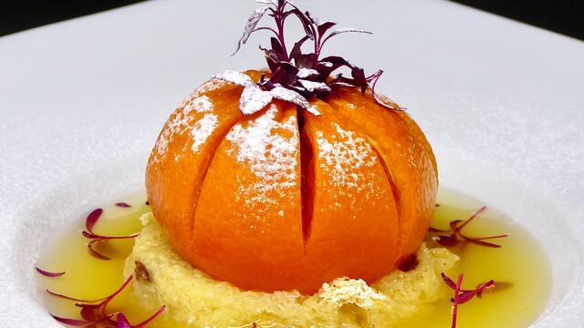 Gekonfijte clementine en panettone