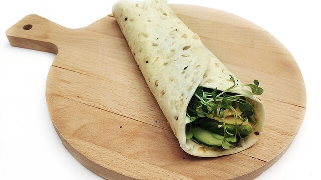 Avocado Wrap with Cucumber & BroccoCress