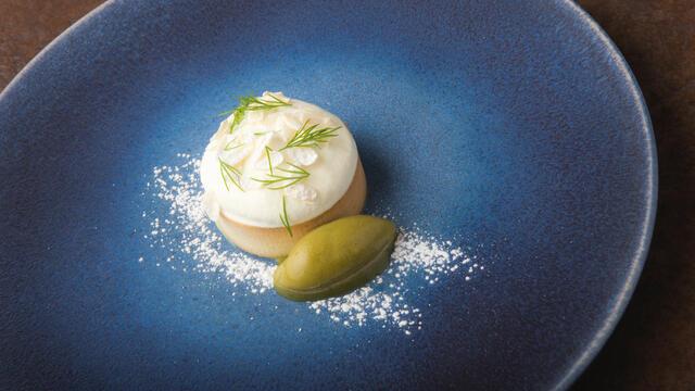 Garden cake, Jasmine Blossom, pine sorbet