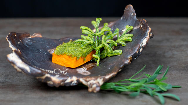 Sweet potato, Sea Fennel tempura