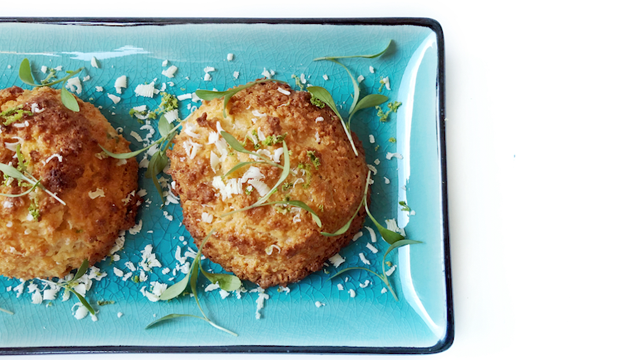 Coconut Macaroons with Ghoa Cress