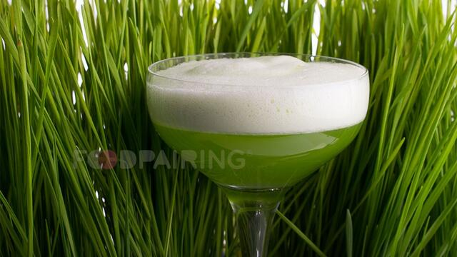 The Green Dutch Lady cocktail with Wheat Grass