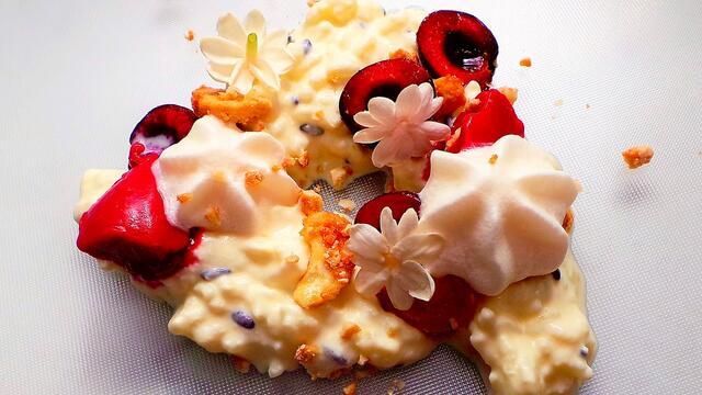 Coconut rice, cashew, cherry, Jasmine Blossom