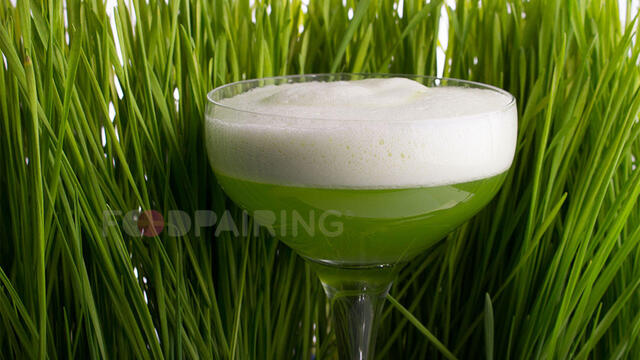"""Green Dutch Lady"" cocktail met Wheatgrass"