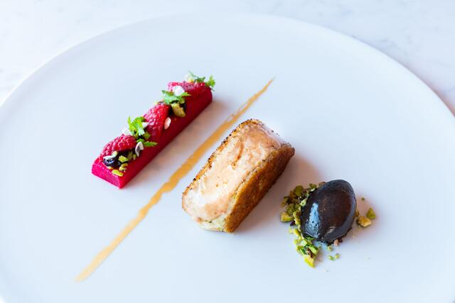 Foie gras, hibiscus, rhubarbe, Jasmine Blossom