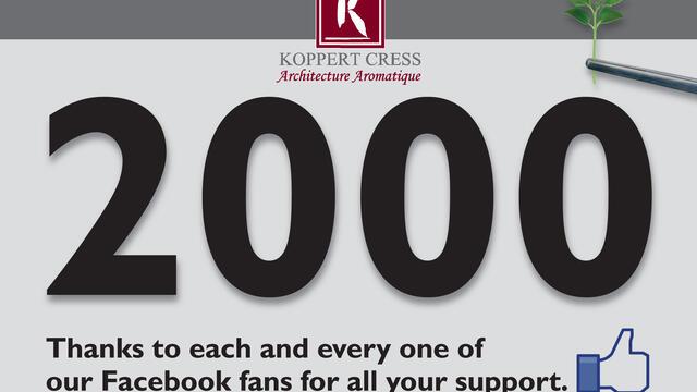 Milestone: 2000 Koppert Cress Fans on Facebook