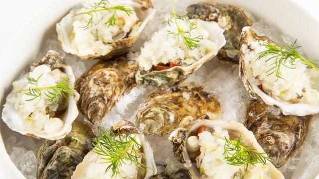 Zeeland oysters Helenic-style