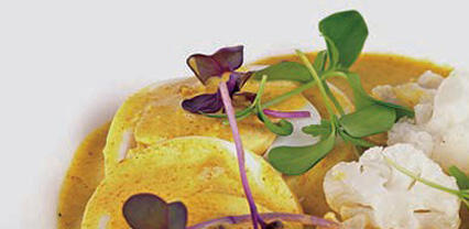Curry con coliflor