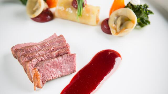 Wagyu with borscht and beetroot