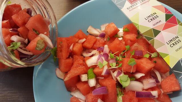 Heerlijke Watermeloen Salsa met Limon Cress