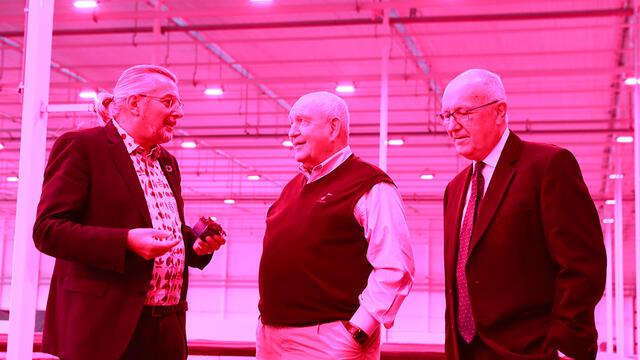 Landbouwminister Sonny Perdue bezoekt Koppert Cress