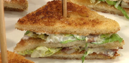 Caesar salad sandwich with Daikon Cress