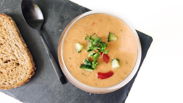 Fresh gazpacho with BroccoCress