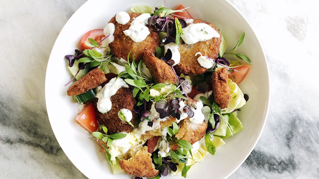 Falafel Salad with Sakura Cress®
