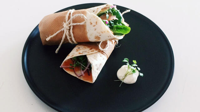 Zalm & citroencrème wraps met BroccoCress