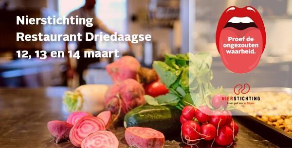 Proef de ongezouten waarheid tijdens Nierstichting Restaurant Driedaagse