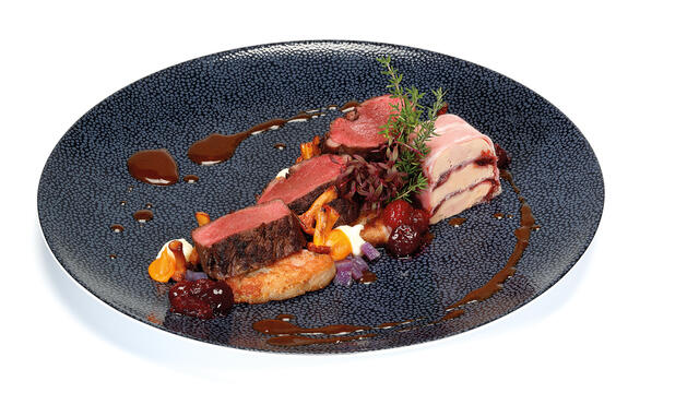Fried venison fillet from the Veluwe