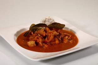 Curry rojo con Kaffir Lime Leaves