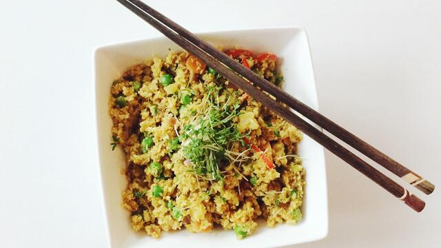 Cauliflower Rice with Garden Cress